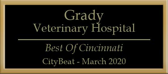 Grady Veterinary Hospital Recognized in 2020 Best of Cincinnati Awards